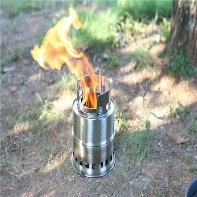 Portable Wood Gas Burning Outdoor Camping Picnic Party Stove Alcohol Stove NEW