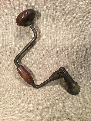 Antique Hand Brace Manual Auger Drill Vintage Hand Tool Wood Working