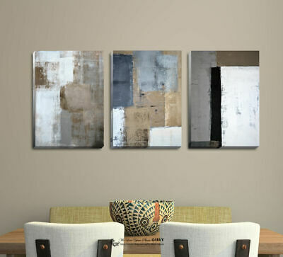 Set Of 3 Abstract Stretched Canvas Prints Framed Wall Art Home Decor Painting