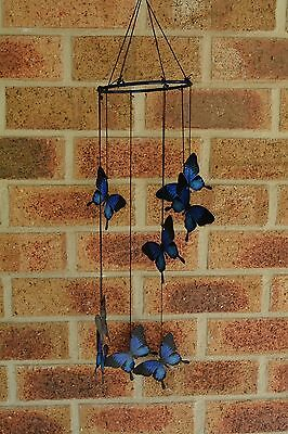 Ulysses Butterfly Wind Chime 8 Butterflies Hanging Metal Home Garden