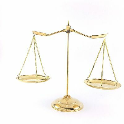 Brass Vintage Scale Justice Home Decoration Lawyers Balance Antique Style New