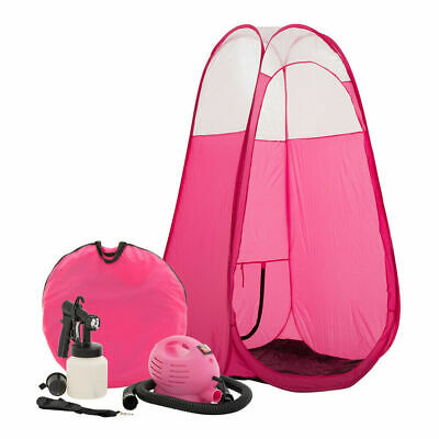 Pink Spray Tan Machine Tanning Airbrush Kit With Pop Up Tent