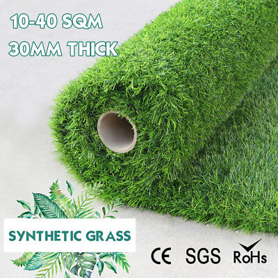 30mm 10-40 SQM Roll Artificial Grass Synthetic Turf Plastic Plant Lawn Flooring