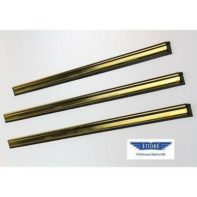 45 cm  Brass Channel & Rubber for Window Cleaning Squeegees from Ettore
