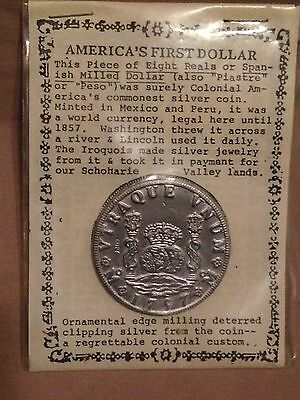 Americas First Dollar-Piastre Peso eight reals Spanish milled dollar COPY-mexico