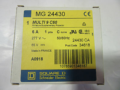 Square D 24430 Circuit Breaker 1P 6A 240/277V MG24430 Multi 9 C60 NEW!!! in Box