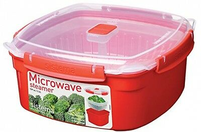 Sistema Microwave Large Steamer With Removable Steamer Basket - 23.9 X 23.9 X