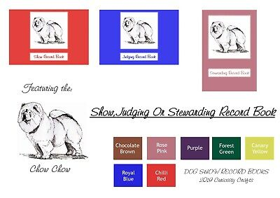 Chow Chow Dog Show Record Book: Show, Judging or Stewarding Dog Show