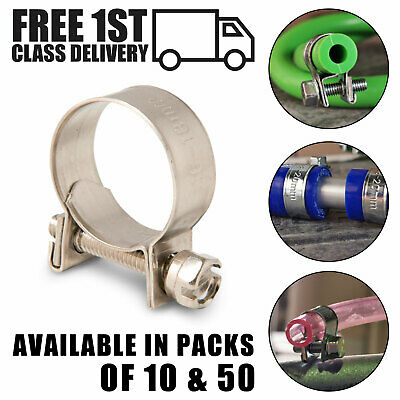 Mini Hose Clamps / Clips Stainless Steel 304 Fuel Line Diesel Petrol Water Pipe