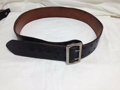 Don Hume Size 36 Black Leather Belt  with Buckle