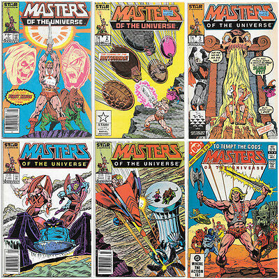 Masters of the Universe DC 1 & Marvel Star Comics Lot 1 2 3 5 6 He-Man Rare