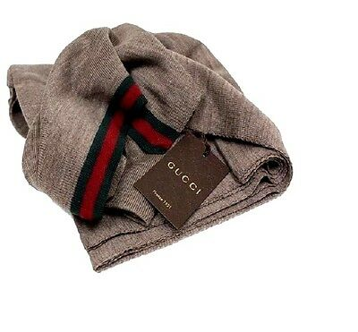 GUCCI NEW WITH TAG ! Unisex  Men's Gucci  with web green/ Red  Brown Scarf .