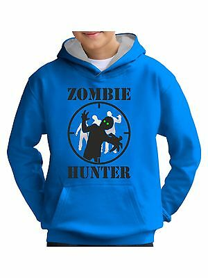 Zombie Hunter Target Gamer Hoodie Mens Boys for Any Age Kids Girls 14 Sizes