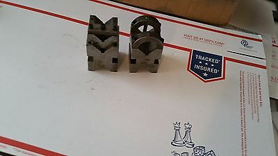 "Precision V-Block & Clamp Set, 2"" x 2"" with 1-11/16 nesting v block"