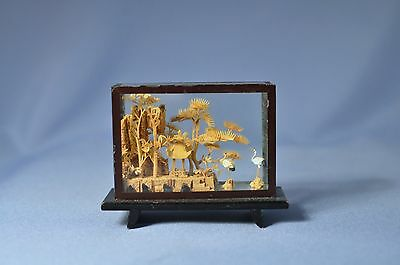 Antique Chinese Cork Craving /Sculpture - Hand Carved Lacquer Frame DSC_00932
