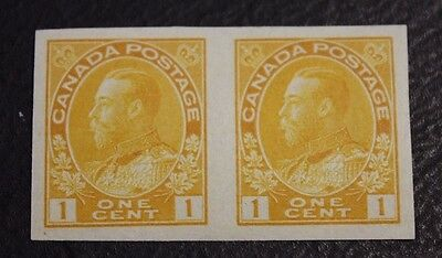 CANADA Scott  # 136 1c Admiral Pair MNH Imperforate Issues