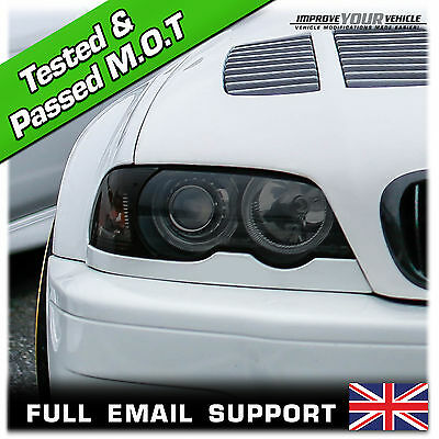 2 x (30 x 60cm) Car Professional Smoked / Black Headlight Tint film sheets!