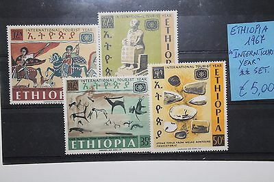 "Ethiopia 1967 ""intern. Tourist Year"" Mnh** Set (Cat.x)"