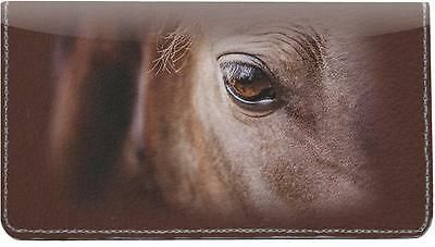 Horse Eyes Leather Checkbook Cover