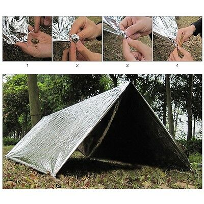 1x Outdoor Emergency Blankets Sleeping Bag Survival Reflective Shelter Camping
