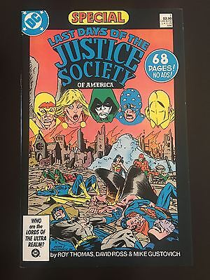 Last Days of the Justice Society Special (1986) #1 VF Very Fine DC Comics