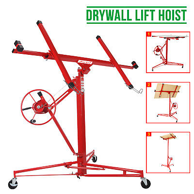11FT Lift/Lifter Tool Drywall Hoist Caster Heavy Duty Plaster Board Panel Sheet
