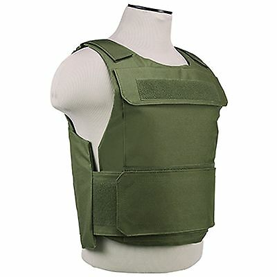 NcSTAR Police SWAT Discreet Lightweight Tactical Vest Plate Carrier OD Green