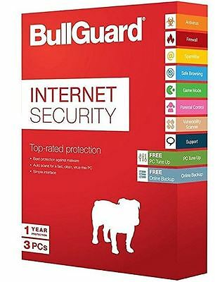 Download BullGuard Internet Security 2019 Windows Android & MAC 3 Devices 1 Year