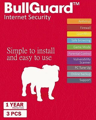 Download BullGuard Internet Security 2019 1 Year 3 Devices - Windows MAC Android