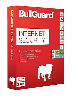 Bullguard Internet Security 2019 Latest Edition - 1 Year - 3 User Licence