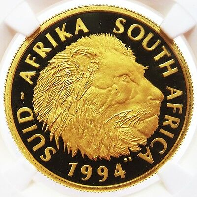 1994 Gold South Africa Lions 1/2 Oz Natura Coin Ngc Proof 68 Ultra Cameo