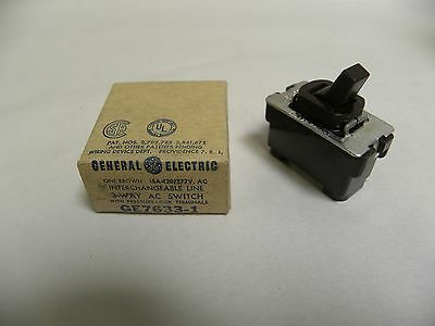 NOS Vtg Brown GE General Electric Interchangeable 3-Way Switch 120 Volt (A3)