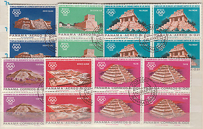 BIN090 Panama Mexico 1968 Olympics Bloc of 4 - Cancelled to Order - 6 Values