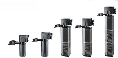Aquarium Fish Tank Filtration Internal Filter Submersible Water Pump-Free UK Del