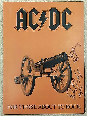 Angus Young Phil Rudd AC/DC Signed Autograph For Those About To Rock JSA