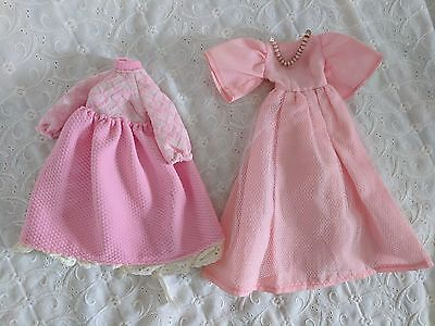 Vintage Handmade Fashion Doll Dresses in Pink - Lot of 2