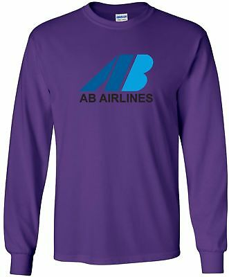 AB Airlines Retro Logo British Airline Long-Sleeve T-Shirt