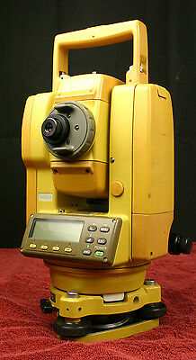 TOPCON GTS-213 Survey Total Station w/ Case 2 Batteries Charger Rain Cover