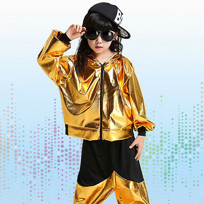 Bright Boys Modern Jazz dance Outfits Kids Performance Hip Hop Dance Costumes