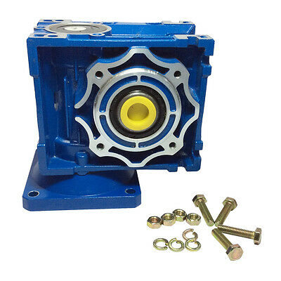 Right Angle Gearbox Geared Speed Reducer RV040 Ratio,1/10,1/15,1/30...1/80