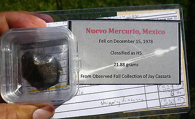 21.88 gram NUEVO MERCURIO METEORITE - Blaine Reed Provenance - Fell Dec 1978
