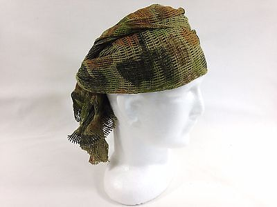 Scrim Net Scarf Auscam Military Camouflage 100% Cotton Hunting Hiking Camping