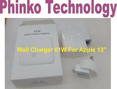 "Power Adapter Charger 61W for Apple MacBook Pro 13"" USB-C A1718 AU Plug"