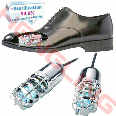 Ultraviolet UV Shoes Sterilizer Sanitizer Deodorizer Kill Fungi Dryer Lamp EU/US
