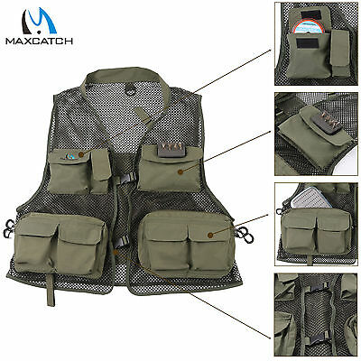 Maxcatch Super Light Fly Fishing Mesh Vest Breathable Mutil-pocket Outdoor