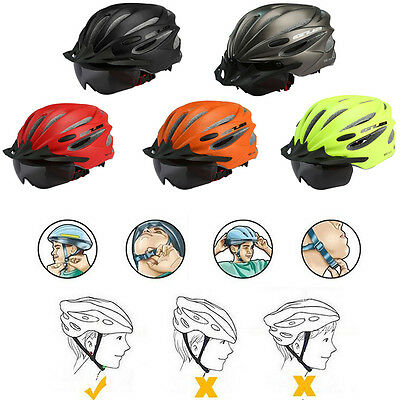 AU Adult Women Men Bike Bicycle Safety Helmet Road & MTB Cycling With Goggles