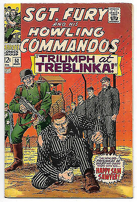 Sgt Fury and his Howling Commandos #52 (1968, fn-vf 7.0) Ayers & Severin art