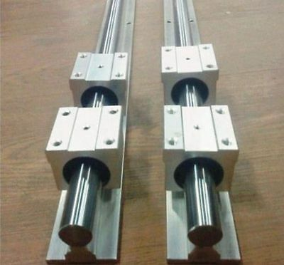 2 set of SBR16 1000mm full supported linear rail shaft rod +4 SBR 16UU T