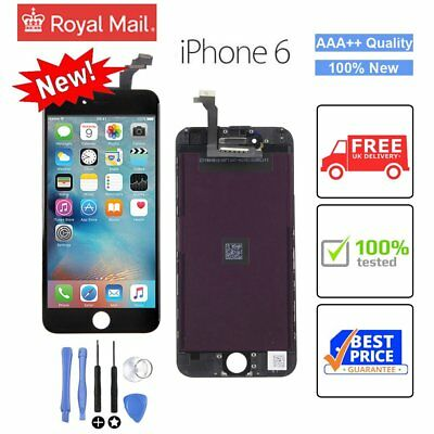 """Black For iPhone 6 4.7"""" LCD Touch Screen Display Digitizer Replacement UK"""