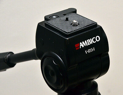 Quick Release Plate for Ambico V0554 Tripod with Fluid Type Head - flush mount